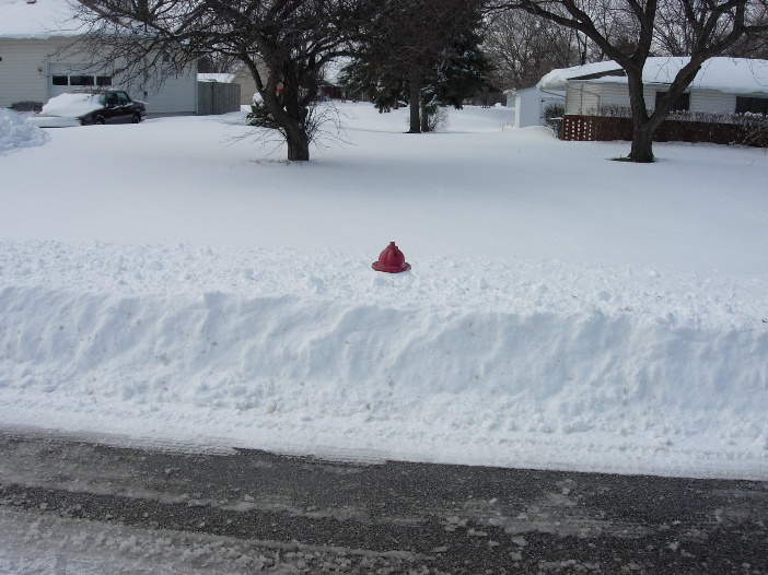 hydrant in snow