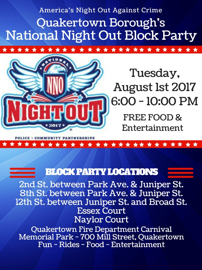 2017 national night out latest news quakertown pa